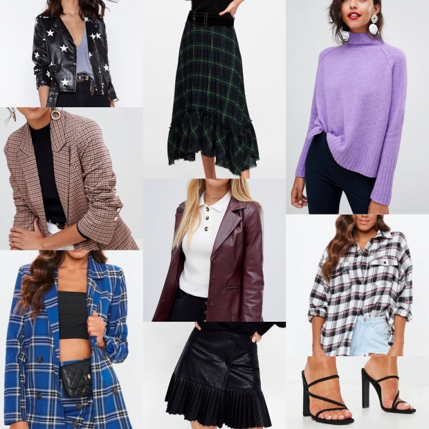 dfd2964e1c Star Leather Jacket; Nasty Gal; Checked Skirt ...
